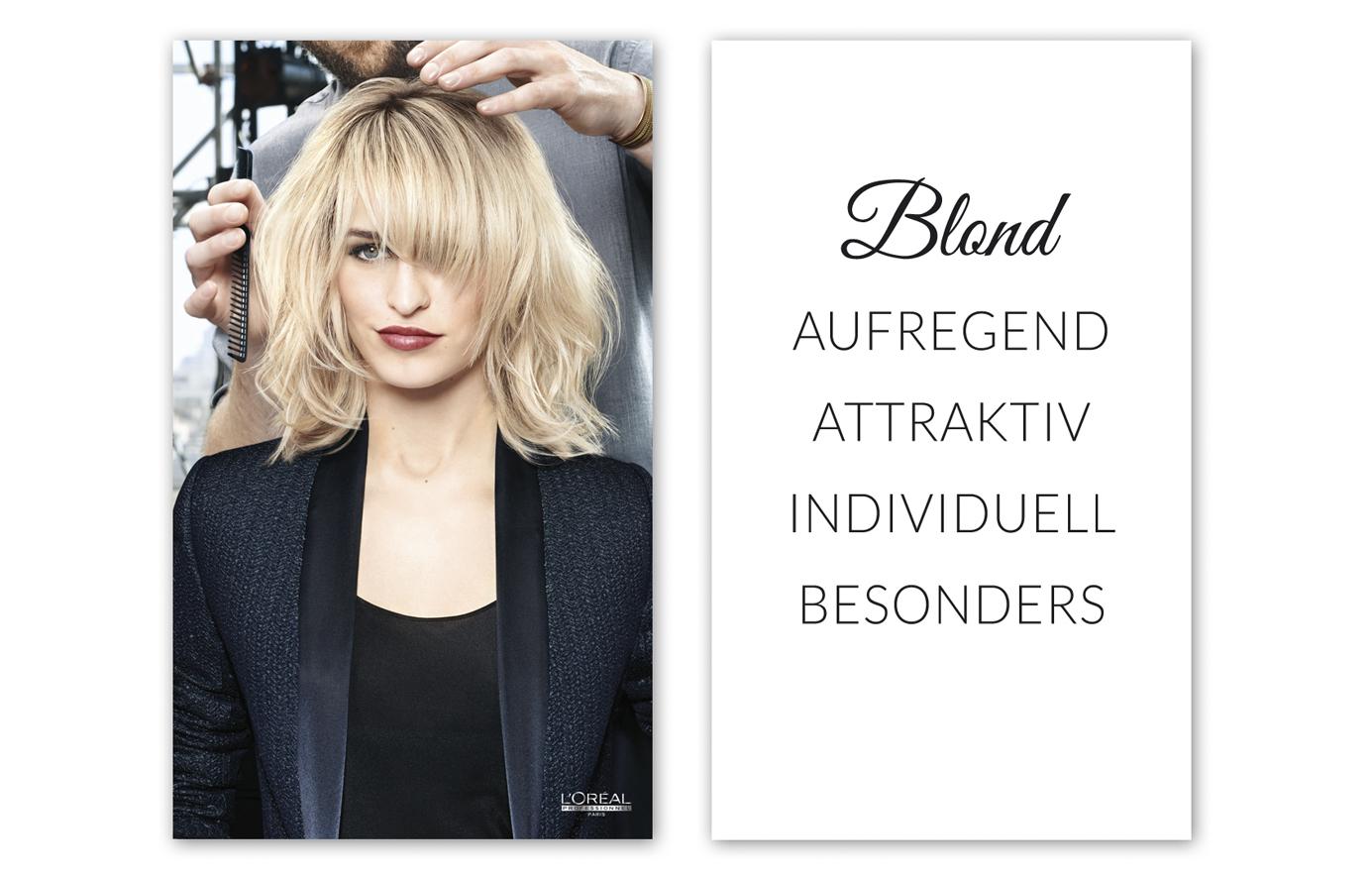 Schaufensterbanner zum Thema Blond Motiv 2