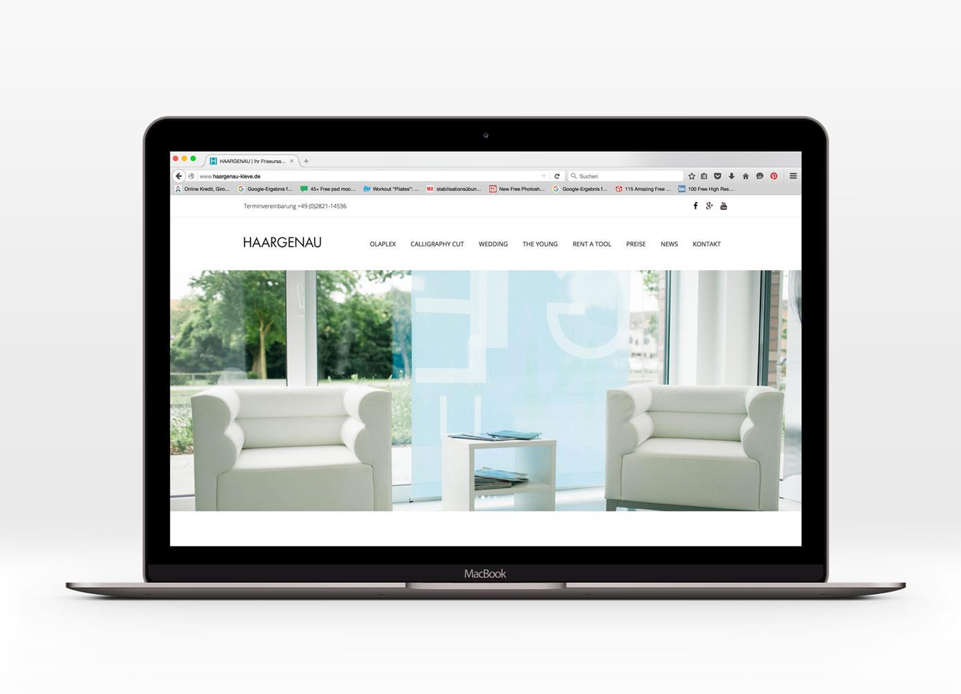 Gestaltung Webseite Haargenau von Regel Design, Homepage,